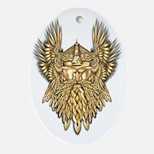 Odin - God of War Oval Ornament