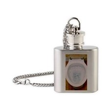 Toilet being flushed Flask Necklace