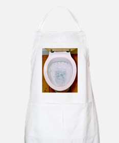 Toilet being flushed Apron