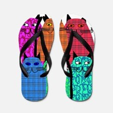 Nurse Practitioner Cats Vertical Flip Flops