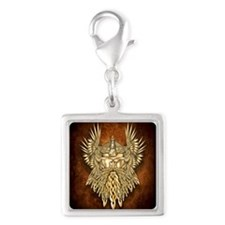 Odin - God of War Silver Square Charm