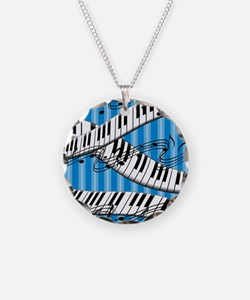 Piano Blues Jazz Music Necklace