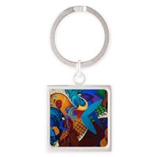 The Music Players Square Keychain