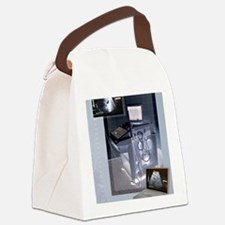 Ultrasound scanner and scans, art Canvas Lunch Bag