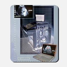 Ultrasound scanner and scans, artwork Mousepad