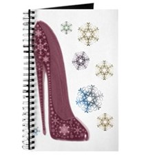Christmas Stiletto and Snowflakes Art Journal