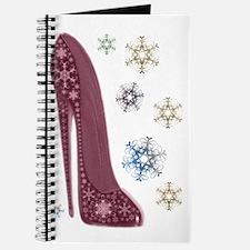 Christmas Stiletto and Snowflakes Art Journal