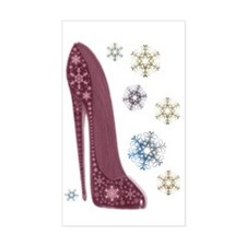 Christmas Stiletto and Snowfla Decal
