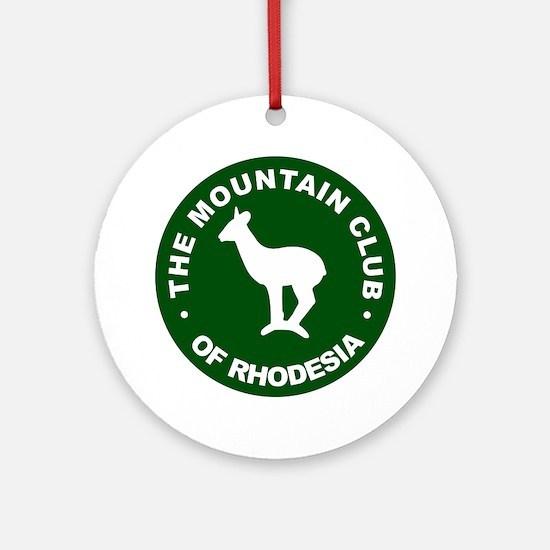 Rhodesian Mountain Club green Round Ornament