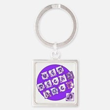 Vet Techs Rock Square Keychain
