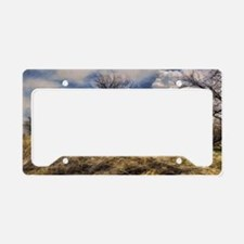 clouds License Plate Holder