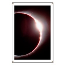 Total solar eclipse, showing a solar flare Banner