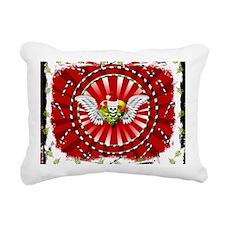 Grunge Christmas Skull H Rectangular Canvas Pillow