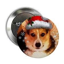 "Christmas Banjo 2.25"" Button"