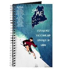 Vintage Ski ME Poster Journal