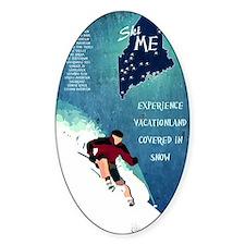 Vintage Ski ME Poster Decal