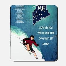 Vintage Ski ME Poster Mousepad