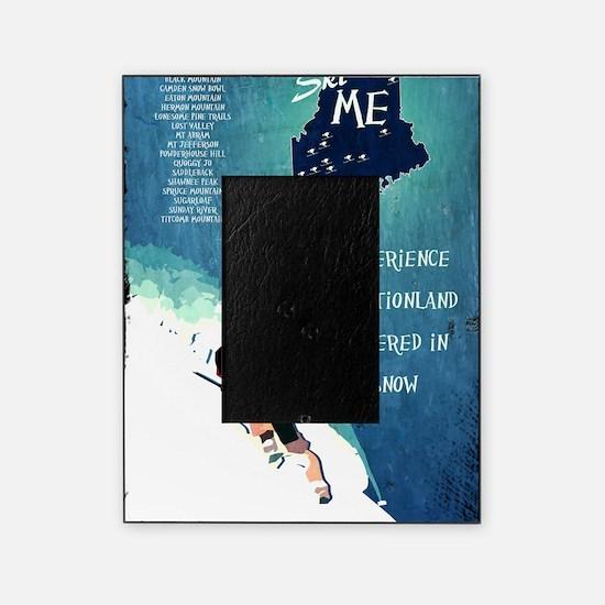 Vintage Ski ME Poster Picture Frame