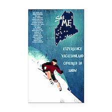 Vintage Ski ME Poster Rectangle Car Magnet
