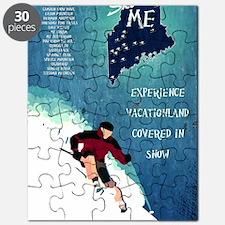 Vintage Ski ME Poster Puzzle
