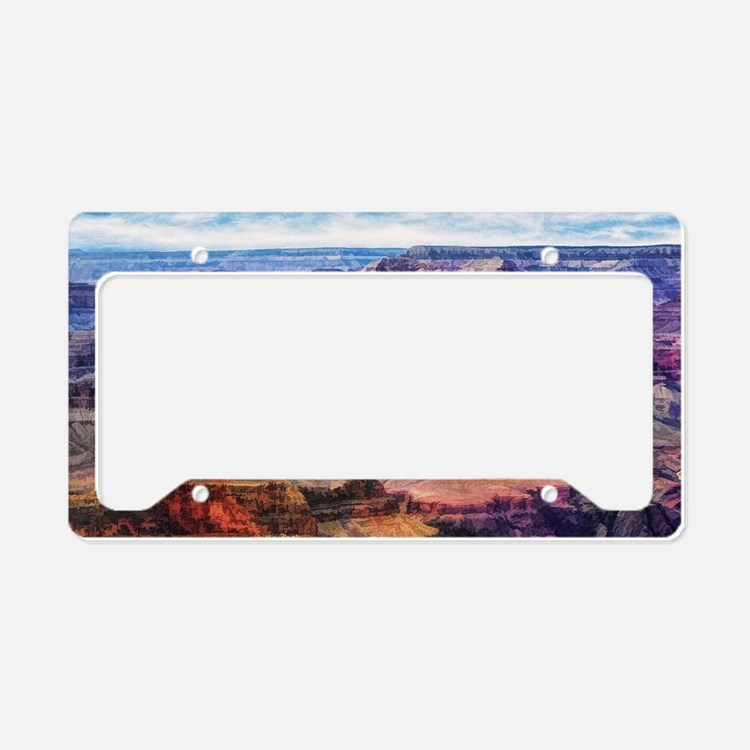 red grand canyon License Plate Holder