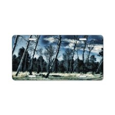 blue forest Aluminum License Plate