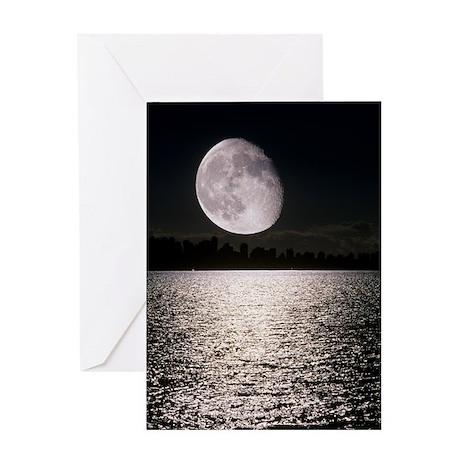 Waning gibbous moon Greeting Card