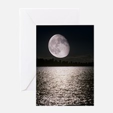 Waning gibbous moon Greeting Card