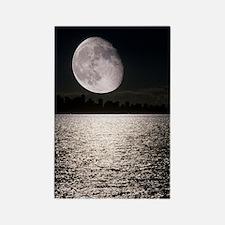 Waning gibbous moon Rectangle Magnet