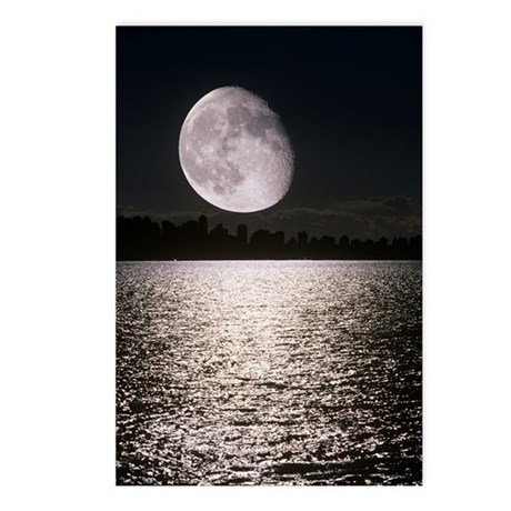 Waning gibbous moon Postcards (Package of 8)