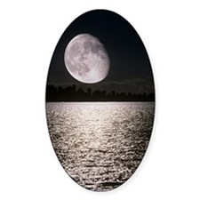 Waning gibbous moon Decal