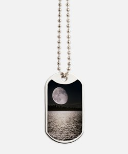 Waning gibbous moon Dog Tags
