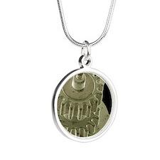 Watch gears, SEM Silver Round Necklace