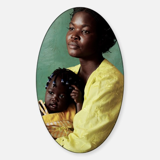 Ugandan mother and child Sticker (Oval)