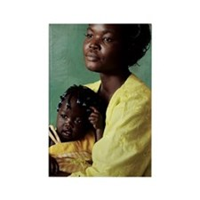 Ugandan mother and child Rectangle Magnet