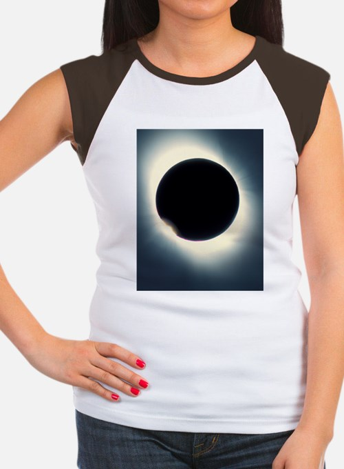 Total solar eclipse fro Women's Cap Sleeve T-Shirt
