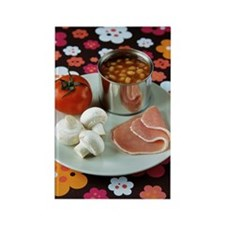 Uncooked English breakfast Rectangle Magnet