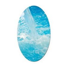 Waterfall Oval Car Magnet