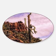 pink saguaro sunset Decal