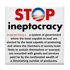 Stop Obama's Ineptocracy Tile Coaster