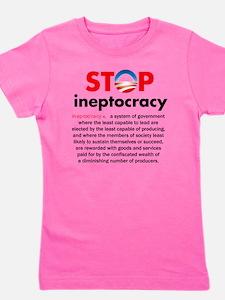 Stop Obama's Ineptocracy Girl's Tee