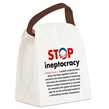 Stop Obama's Ineptocracy Canvas Lunch Bag