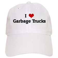 I Love Garbage Trucks Baseball Cap