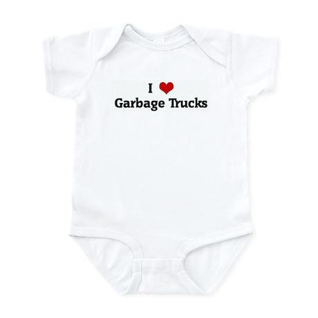 I Love Garbage Trucks Infant Bodysuit