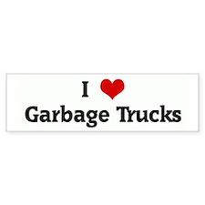 I Love Garbage Trucks Bumper Bumper Sticker