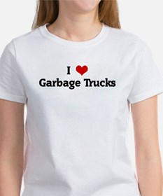 I Love Garbage Trucks Tee