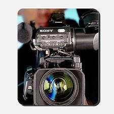 TV camera and cameraman Mousepad