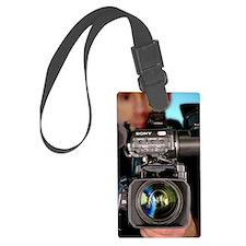 TV camera and cameraman Luggage Tag