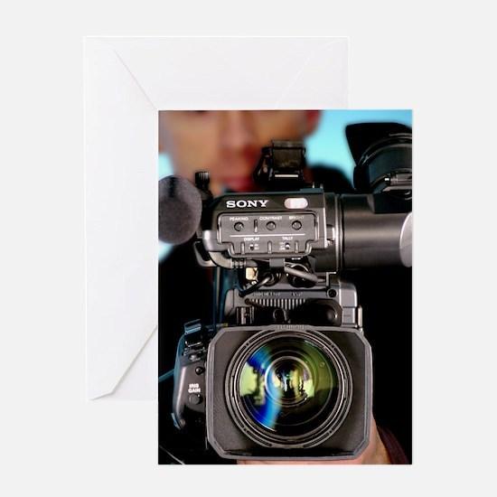 TV camera and cameraman Greeting Card
