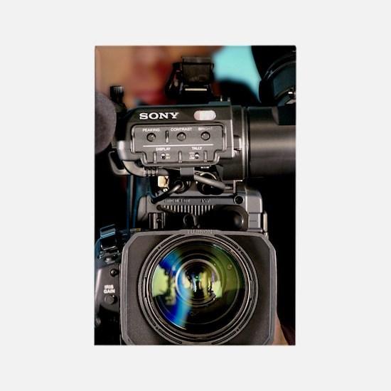 TV camera and cameraman Rectangle Magnet
